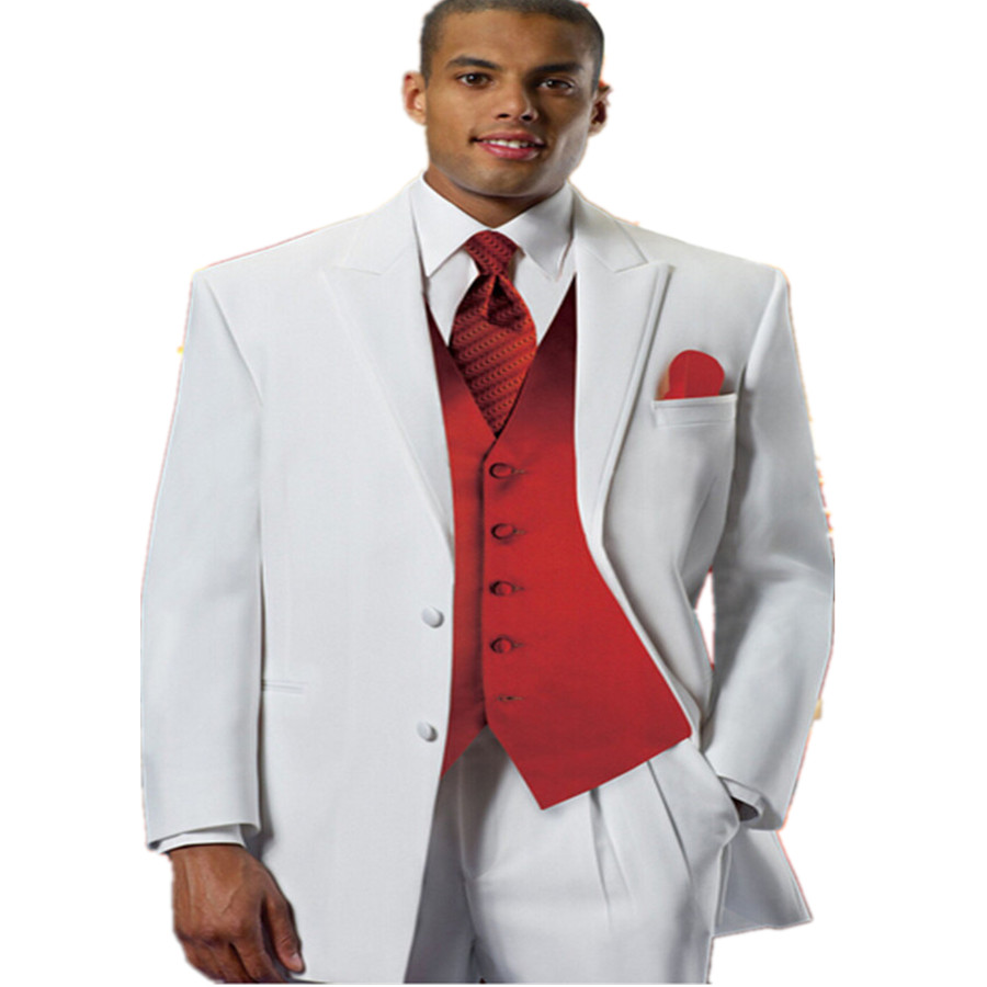 White And Red Wedding Suit | Wedding Ideas