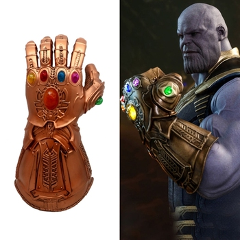 2019 Thanos Infinity Gauntlet Avengers Infinity War Gloves Cosplay Superhero Avengers Thanos Latex Glove Halloween Party Props 1