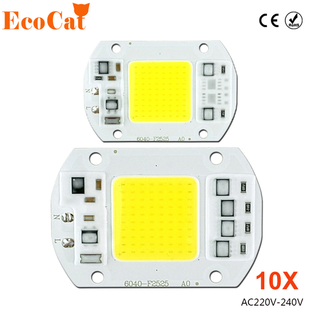LED Chip Smart IC 50W 220V AC For Projectors 10W 20W 30W 240V DIY Flood Light COB LED Diode Spotlight Outdoor Chip