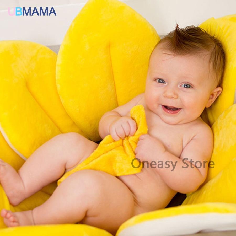 Newborn baby bathe lotus baby shower soft warm bath tub newborn supplies petals petals folding bath mat slip