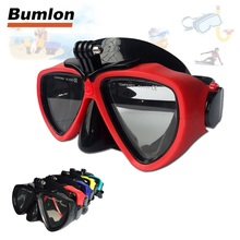 Diving Goggles Mask Sports Scuba with Underwater Camera Mount Tempered Glasses Mask Equipment HT15-0024