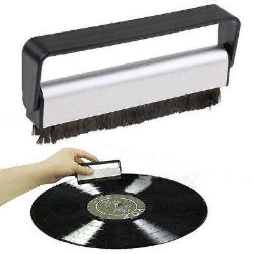 Pad Rekord Pinsel Griff Reiniger Schrubben Anti Statische Weiche Audio Carbon Faser Phonographen Plattenspieler Vinyl Reinigung Werkzeug Schwarz Tragbares Audio & Video