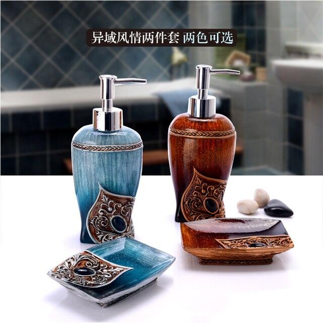 Bathroom Set 2 Piece Holder Creative Hand Sanitizer Bottle Resin Toothpaste  Dispenser Soap Box Toiletries Ladybug