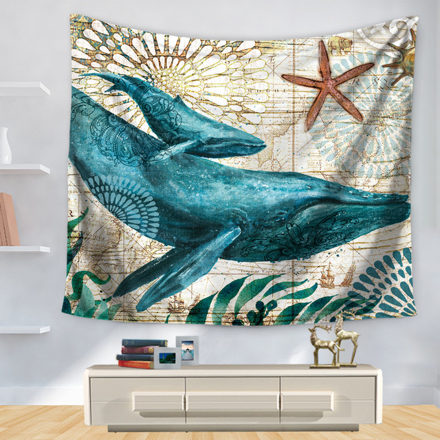 Ocean Style Marine Style Sea Horse Pattern Home Decorative Tapete Bedroom Blanket Table Cloth Yoga Mat.jpg 640x640 - Home Style Tapete