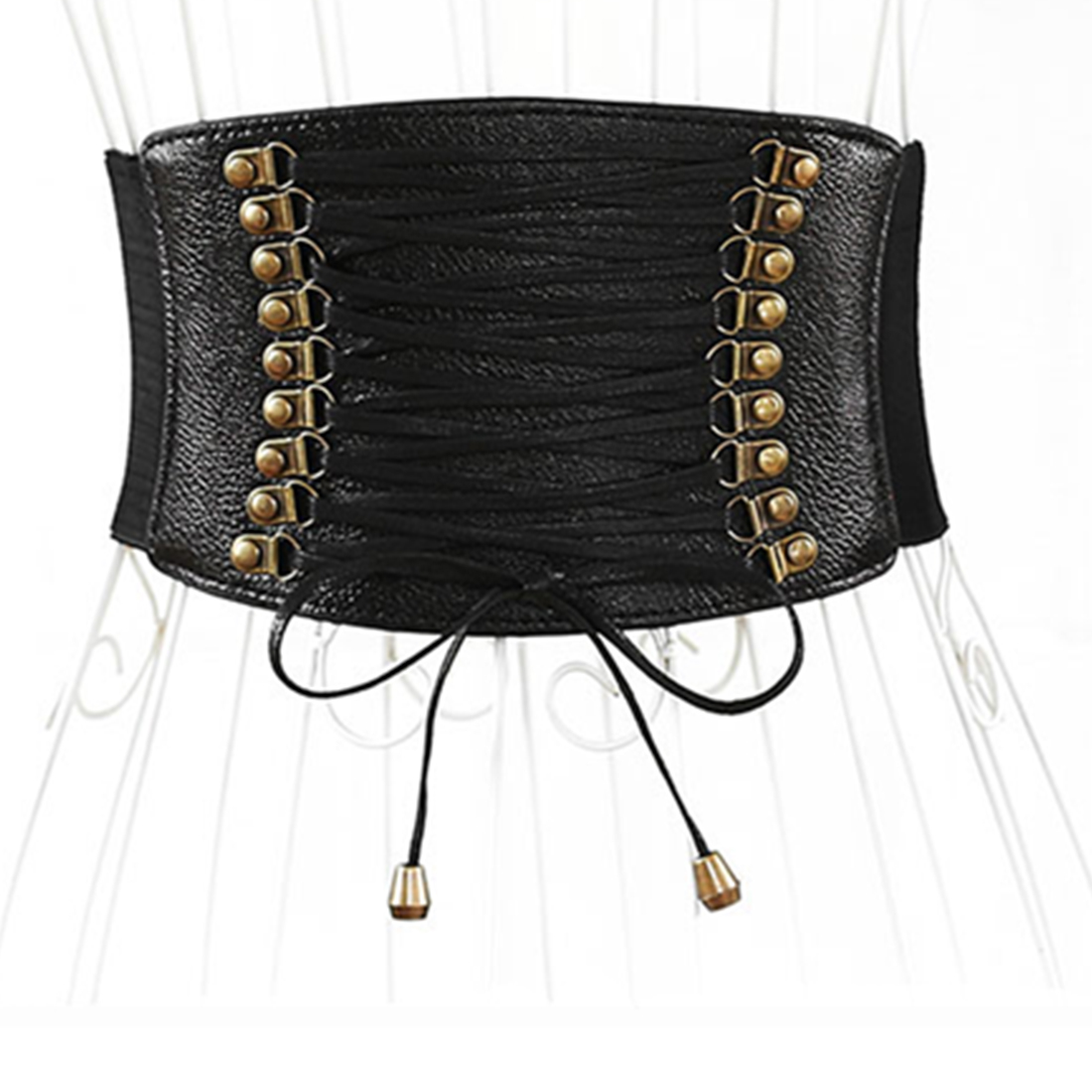 Chicever Autumn Print Hit Colors Belts For Women Wide Waistband High Waist Pu Leather Belt Female Dress Accessories Fashion Tide Sales Of Quality Assurance Women's Belts