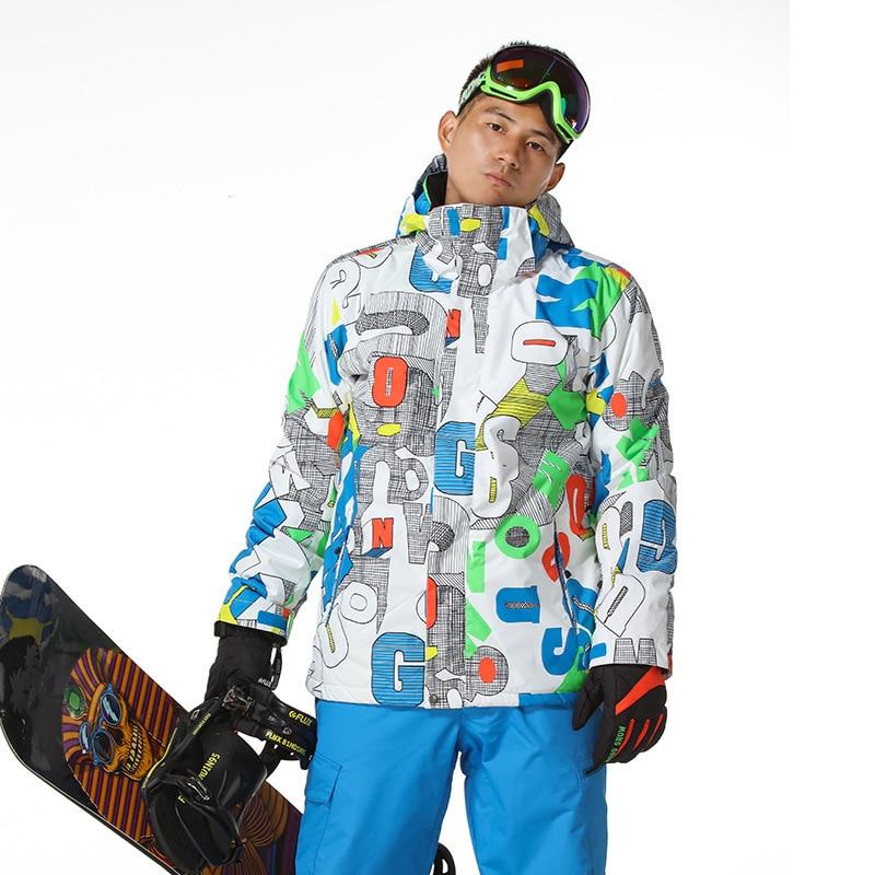 GSOUSNOW veste de costume de ski pour hommes veste de ski à planche unique en coton pour hommes 1416-001