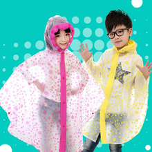 Children Raincoat Student Rainwear Kids Poncho Translucent Non-disposable Rain Gear Jelly Glue EVA Material Camp Tourism Child