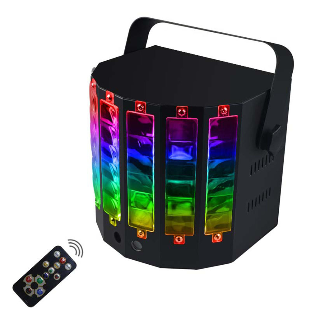 LED Laser Party Light Remote Control Stage Light 18W 9 Colors Projector Sound Activated DJ KTV Disco LED Strobe Stage Light portable dj dance stage strobe led light voice activated mini r&g laser projector decoration party lighting club party disco ktv