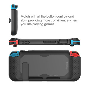 Image 5 - Smatree קשיח מגן מקרה עבור Nintend מתג נוחות כף יד חזרה כיסוי עבור Nintendo מתג קונסולת NS שחור/ אדום/כחול
