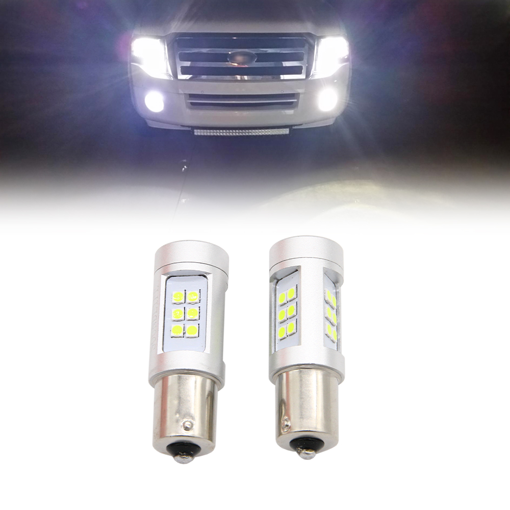2PCS 3030 White Red Yellow Blue LED Car Front Fog Lamp 1156 Ba15S BAY15S Bulb Automobiles Light Turn Signal Reverse Lamp