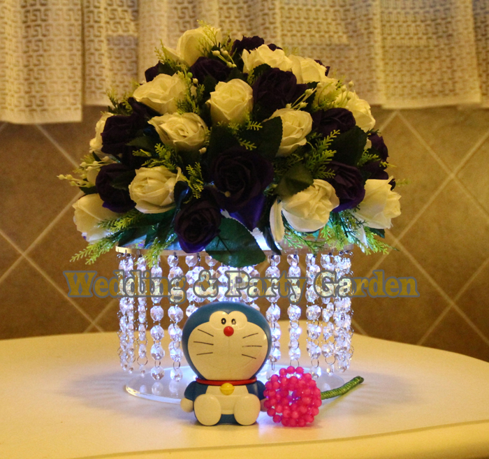 1 Tier Crystal transparentní akrylové dort stojan svatební party dort prop svatební ozdobu D20cm * H20cm