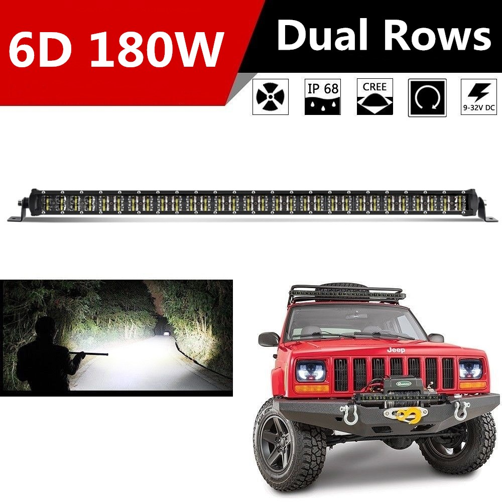 цена CO LIGHT 6D 32inch 180W Combo Led Bar Dual Row LED Light Bar Offroad Driving Lamp for Jeep 4x4 ATV Truck Led Work Light 12V 24V онлайн в 2017 году