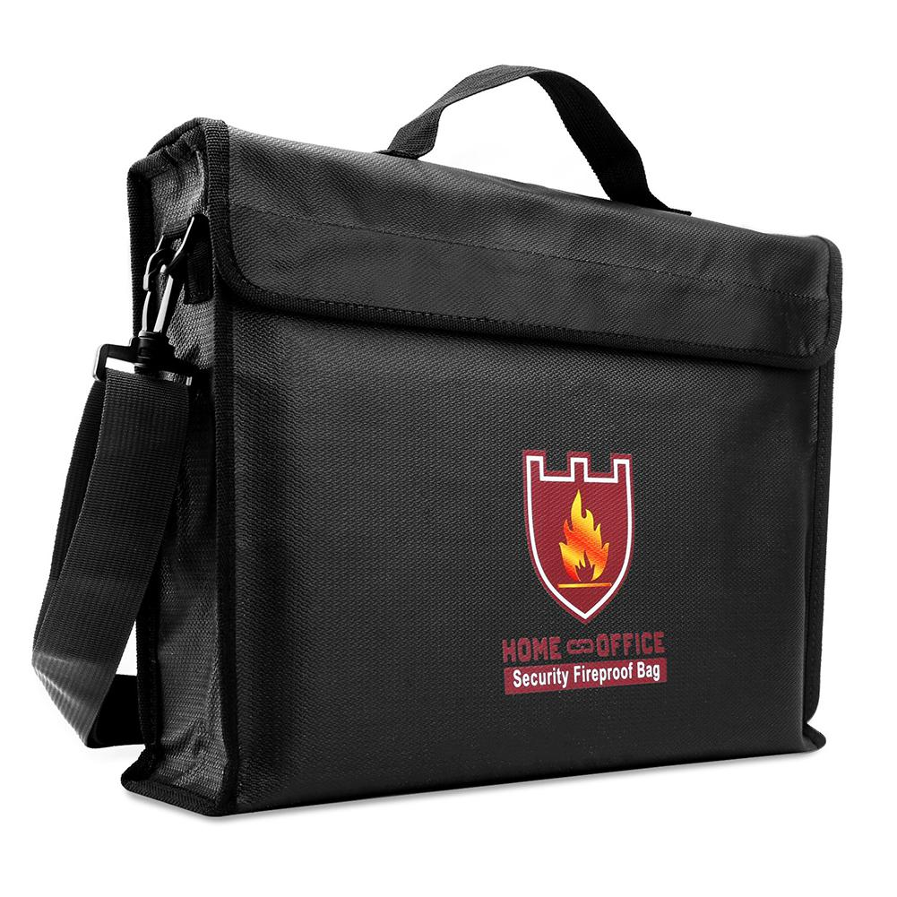 38*28*7.5cm Double Side High Temperature Resistant Waterproof Fireproof Documents Bag With Handle