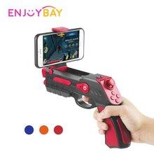 Enjoybay AR пистолет открытый игрушка 4D дистанционного зондирования игры геймпад Bluetooth Smart w/держатель телефона игры для Android ios