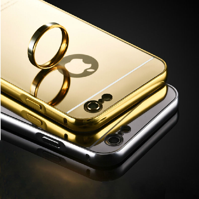 Mirror Mobile Phone Case for iPhone 6 apple 4.7 inch HOT Rose Gold Aluminum Acrylic Hard Cases Cover for iPhone6 Plus 5.5 inch