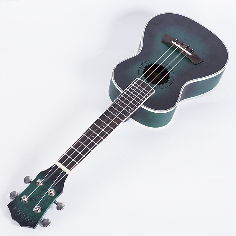 New 23'' blue Ukulele 4 Strings Acoustic Guitar Hawaii Mini Ubass Mahogany Classical 18 tone travel Guitar Instruments guitalele savarez 510 cantiga series alliance cantiga ht classical guitar strings full set 510aj