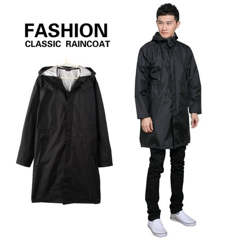 Aliexpress.com : Buy Black/Blue cloak Raincoat Men waterproof long ...