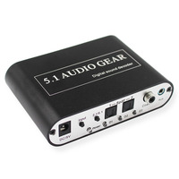 5 1 Audio Decoder Converter Digital To Analog Decoder Spdif Coaxial USB To RCA Support DTS