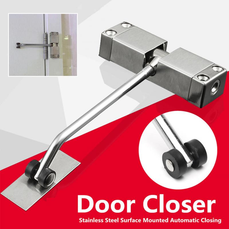 Stainless Steel Strong Door Closer Mini Ultra Thin Automatic Door