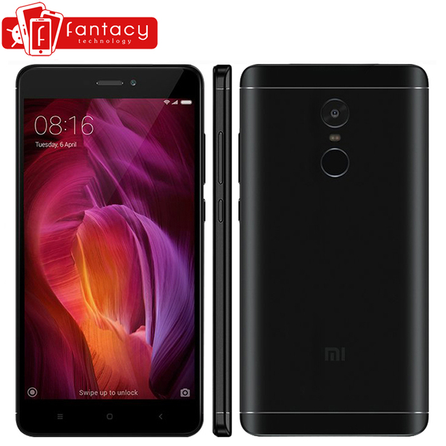 "Original Xiaomi Redmi Note 4 Qualcomm 3GB 32GB Global Version Snapdragon 625 Mobile Phone 5.5"" FHD 13MP Fingerprint ID MIUI 9"