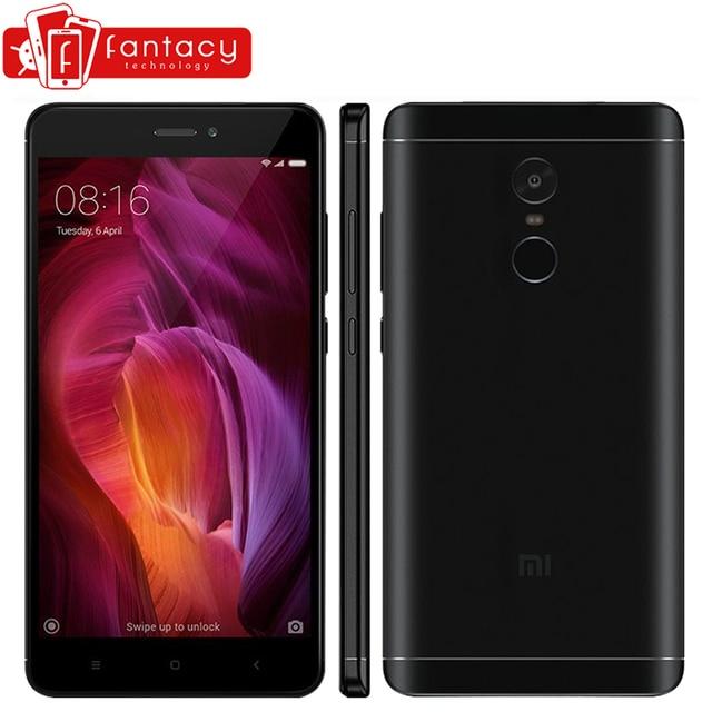 """Оригинальный Xiaomi Redmi Note 4 Qualcomm 3 ГБ 32 ГБ Глобальный Версия Snapdragon 625 Мобильный телефон 5.5 """"FHD 13MP отпечатков пальцев ID MIUI 8.5"""