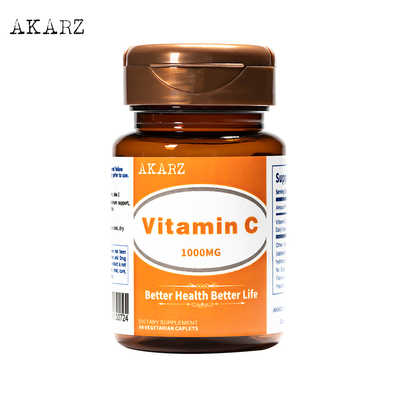 Super Effect Whitening AKARZ Famous Brand Vitamin C Supplement Natural Skin Face Body Reducing Melanin 1000mg