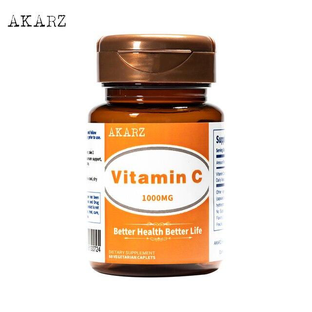 Супер эффект отбеливания akarz известный бренд витамин C дополнение натуральную кожу лица и тела, уменьшая меланин 1000 мг