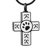 IJD9456 5/10/20 Women Man Charm Cross Charms Stainless Steel Memorial Ash Keepsake Cremation Jewelry Pendant Necklace