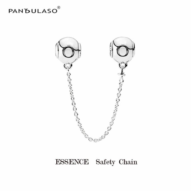 Sterling-Silver-Jewelry Charms Silver Essence Safety Chain Fits Jewelry Making Bracelet For Woman DIY 2MM Hole Beads