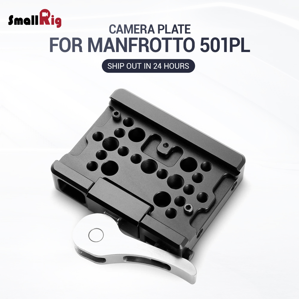 SmallRig For Manfrotto Tripod Plate Video Drop In Baseplate For Manfrotto 501PL Camera Camcorders Quick Release