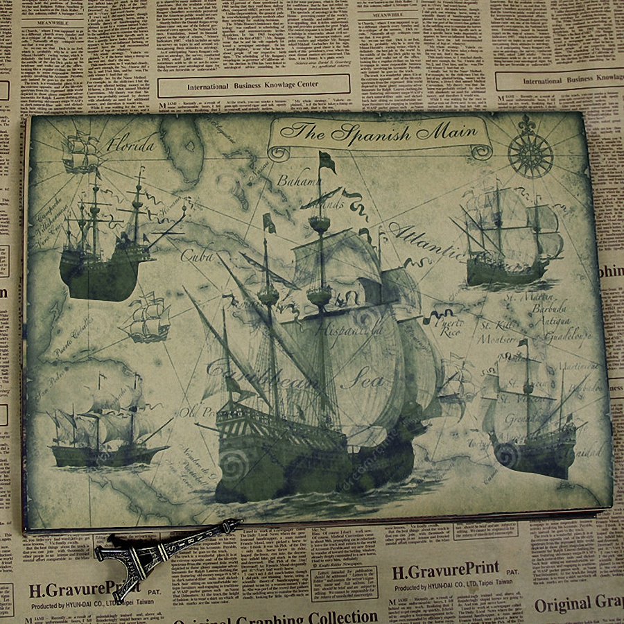 ancient warship design architecture diagram retro kraft paper military posters painting wall sticker home decoration 30x42 cm a in painting calligraphy  [ 900 x 900 Pixel ]