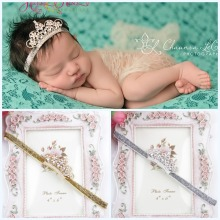 The new childrens headwear crystal hair of children in Europe and America Crown