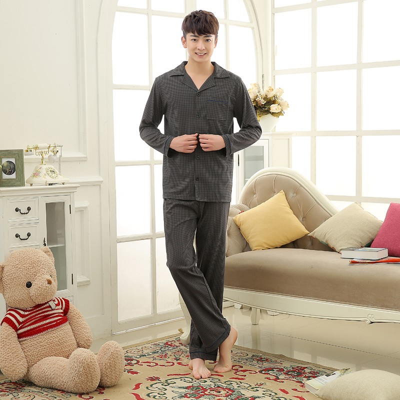 Men\'s Cotton Polyester Pajama Sets RBS-C LYQ1414 18
