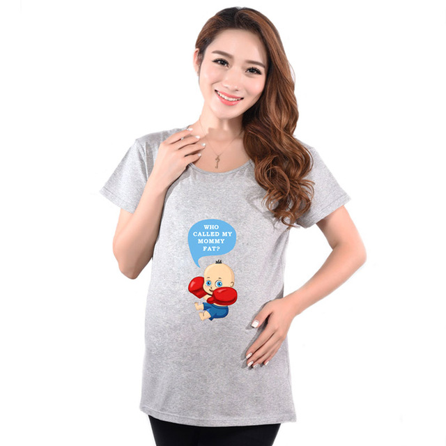 Brand Maternity T Shirts Casual Pregnancy Maternity Clothes Baby Peeking Out Funny Maternity Shirts  For Pregnant Woman Tees