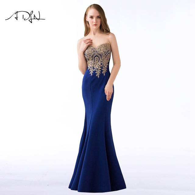 Online Shop ADLN 2018 Royal Blue Mermaid Evening Dresses Simple Party Gowns  Long Cheap Prom Wear Special Occasion Dress  46e87a037123