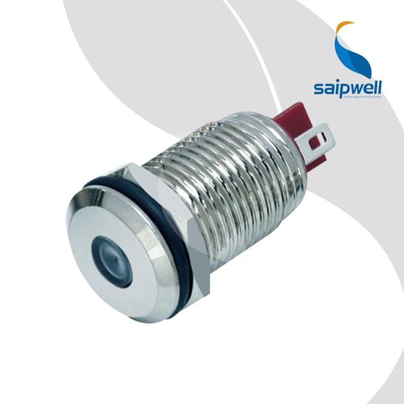 12MM Waterproof IP65 Mini Metal Pilot Light/ Brass Material Metal Indicator Light (SP12-LED)