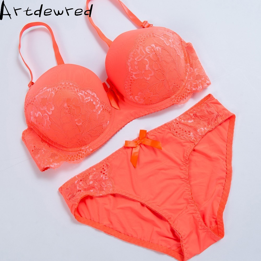ARTDEWRED Women Sexy Bralette Big Size Bra Set Lace Underwear Bras 75 80 85 90 95 D E Intimates Female Bh Tops Lingerie Sets