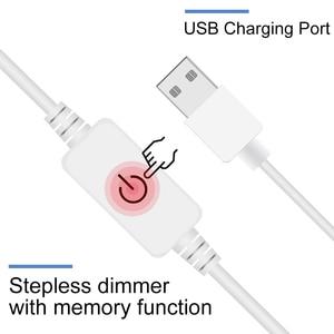 Image 4 - USB 5V LED 化粧鏡電球 2 6 10 14 電球キットタッチ調光ドレッシングテーブルハリウッド化粧台光ミラー電球
