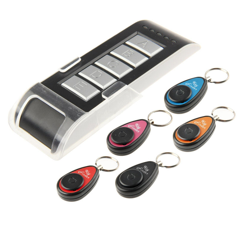 Wireless Electronic Key Finder Reminder With 5 Keychain Receivers For Lost Keys Locator Whistle Key Finder     LCC77 цена и фото