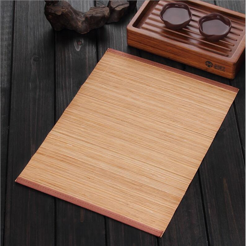 Kung Fu tea accessories bamboo mat Dining Table Mat Heat Insulation Non-Slip Placemats  Tableware Pad Coaster Kitchen Accessorie
