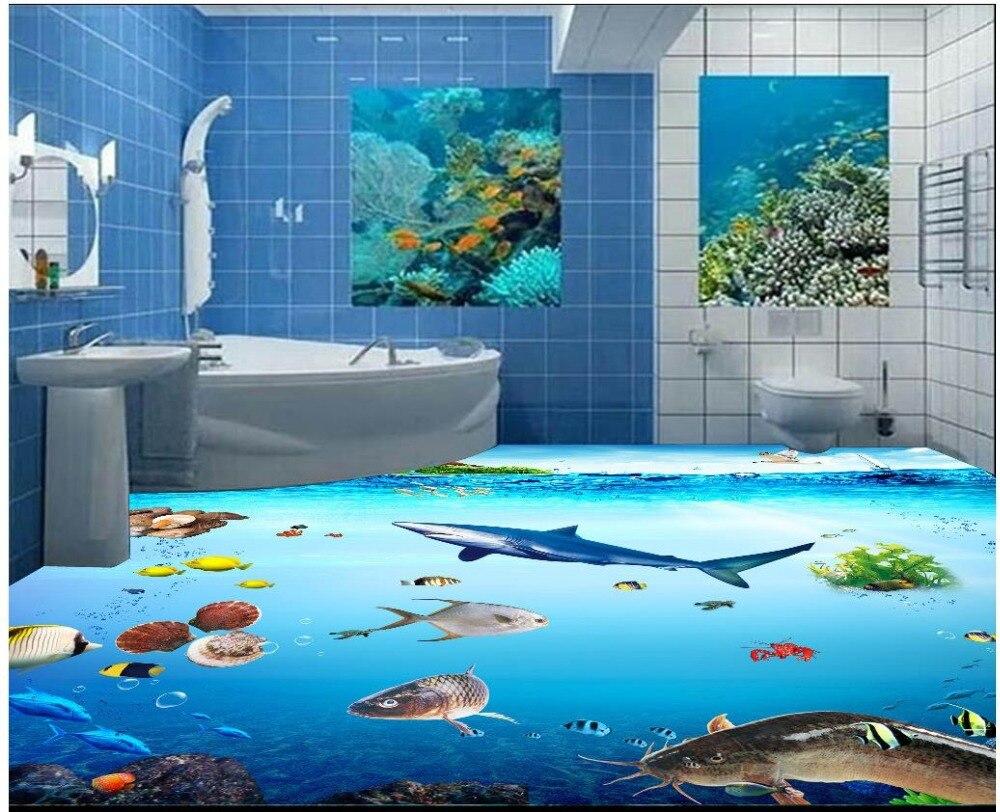 Pin awesome aquarium bedroom design on pinterest for Floor aquarium