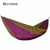 1 Person Nylon Hammock Tent Rede Chair For Backpacking Travel Swing Hamac With Two Strong Hanging