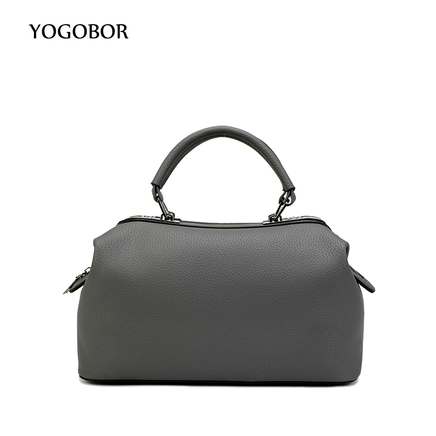 Women Tote Bag Boston Handbags Woman Shoulder Bags 2017 New Ladies Top-handle Bags Female Black Messengers Fashion Designer