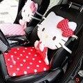 Assento de carro Cobre Inverno tampa de assento do Carro Vermelho cobre Acessórios Rosa Auto cobre Olá kitty Acessórios Do Carro Interior