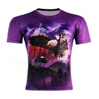 Birds Eagle/Hawk Hit The Sky Women/Man Funny T-shirt 3D Printing Unisex Cool Style Purple Color Summer Top Tee Plus S-5XL R2453