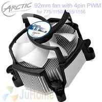 $ Number pines PWM Silencioso superior 90mm, 92mm ventilador, TDP 95 W de refrigeración para Intel LGA775 1150 1151 1155 1156, CPU cooler ventilador, ventilador ÁRTICO Alpine 11 Rev.2