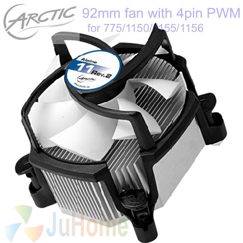Superior silencioso 4pin PWM 90mm, 92mm ventilador, refrigeración TDP 95 W para Intel LGA775 1150 1151 1155 1156, CPU cooler ventilador, Arctic Alpine 11 Rev.2