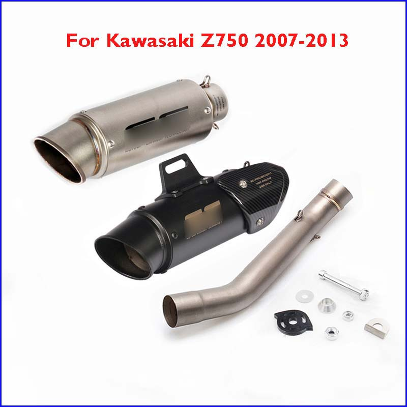 For Kawasaki Z750 2007-2013 Slip-on Exhaust Muffler Silencer Escape Connect Mid Link Tube Exhaust System Z750 Motorcycle(China)