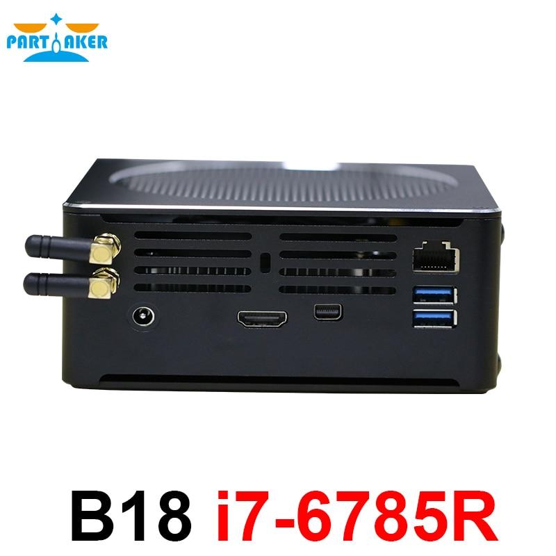 Mini PC Desktop Computer 16GB Ram 512GB SSD Windows 10 64 Bit Linux Intel Core I7 6785R Mini DP HDMI Gigabit Ethernet USB3.0