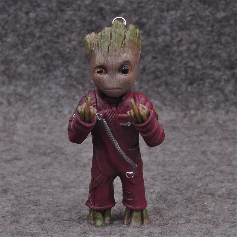 2018 Movie Guardians of the Galaxy version Treant Grootted Action figure PVC Doll Ornaments Toys For kids Keychain Key Bag Gift